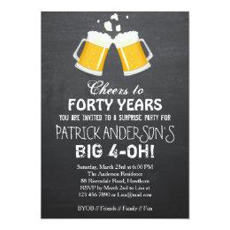 40th Birthday Invitation / Beer 40th Birthday