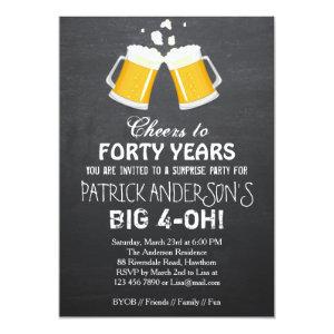 40th Birthday Invitation Beer