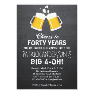 Men 40th birthday invitations zazzle 40th birthday invitation beer 40th birthday filmwisefo