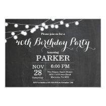 40th Birthday Invitation Chalkboard