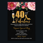 """40th Birthday Invitation for Women<br><div class=""""desc"""">(1) For further customization,  please click the """"customize further"""" link and use our design tool to modify this template. (2) If you prefer Thicker papers / Matte Finish,  you may consider to choose the Matte Paper Type. (3) If you need help  please contact me.</div>"""