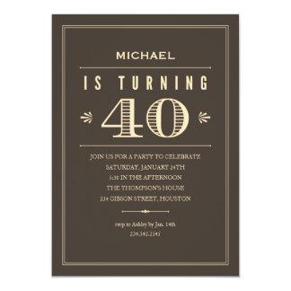 Men 40th Birthday Invitations & Announcements | Zazzle