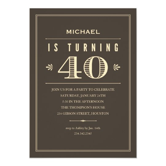 40th Birthday Invitations For Men