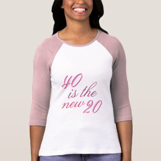 40th Birthday Joke 40 is the new 20 Shirt