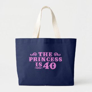 40th Birthday Large Tote Bag
