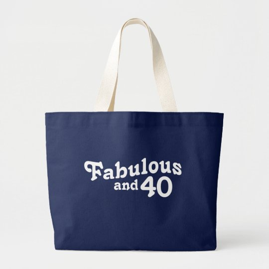 40th Birthday Large Tote Bag