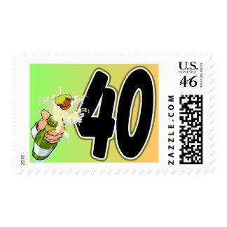 40th birthday merchandise stamps