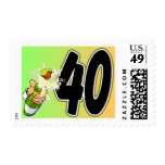 40th birthday merchandise stamps