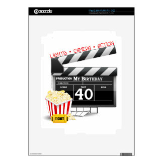 40th Birthday Movie Birthday Party Skins For The iPad 2