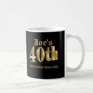 40th birthday Mug personalized