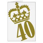40th Birthday - Number – Fourty Greeting Card