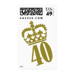 40th Birthday - Number – Fourty Postage Stamps