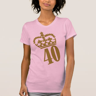 40th Birthday - Number – Fourty T-Shirt