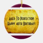 40th Birthday Ornament