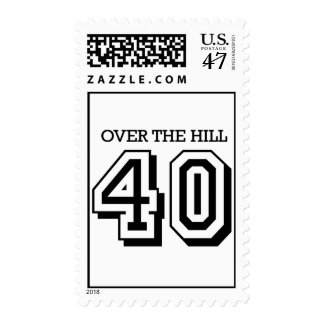 40th Birthday - Over The Hill Postage