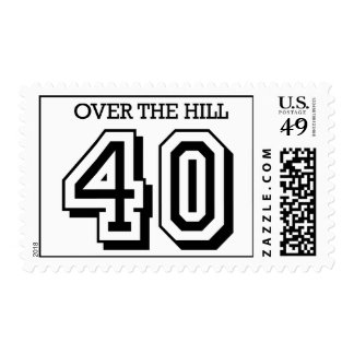 40th Birthday - Over The Hill Stamp