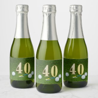40th Birthday Par tee Party for golfer Champagne Label