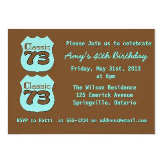 40th Birthday Party Card