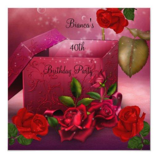 40th_birthday_party_elegant_red_rose_gift_box_invitation ...