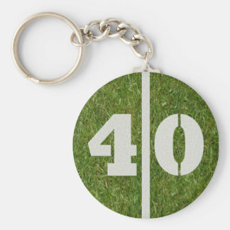 40th Birthday Party Favor Keychain
