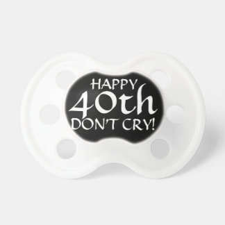40th Birthday Party Gag Gift or Cake Topper! Pacifier