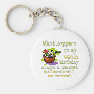 40th Birthday Party Gifts Basic Round Button Keychain