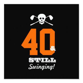 40th Birthday Party Golf - Still Swinging! Card