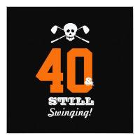 40th Birthday Party Golf - Still Swinging! Invitation