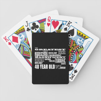 40th Birthday Party Greatest Forty Year Old Card Decks