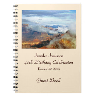 40th Birthday Party Guest Book, Grand Canyon Note Books