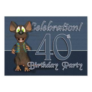 40th Birthday Party Invitaion - Fun Mouse Card