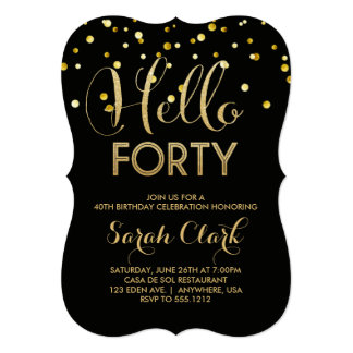 40th birthday invitations & announcements | zazzle, Birthday invitations