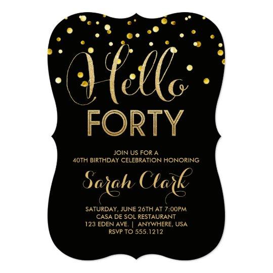 40th Birthday Party Invitation Zazzlecom
