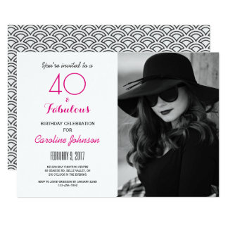 40th Birthday Party Invitation - 40 & Fabulous