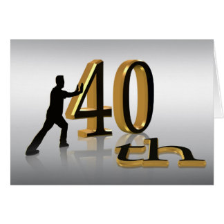 40Th Birthday Party Invitation modern design