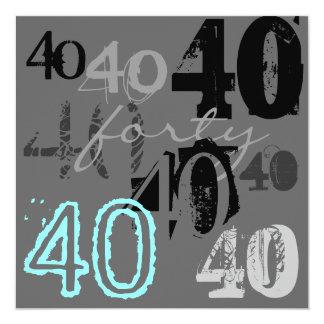 40th Birthday Party Invitations