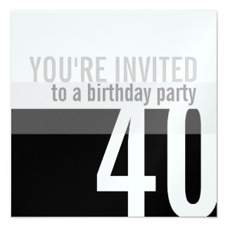 40th Birthday Party Invitations {Silver}