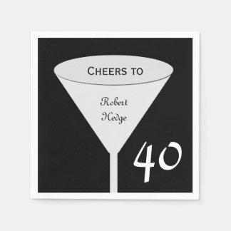 40th Birthday Party Paper Napkins Standard Cocktail Napkin