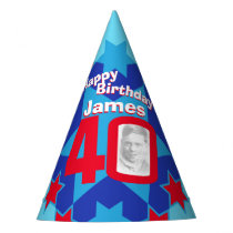 40th birthday personalized photo star name hat