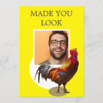 40th Birthday Photo Fun Chicken Rooster Invitation