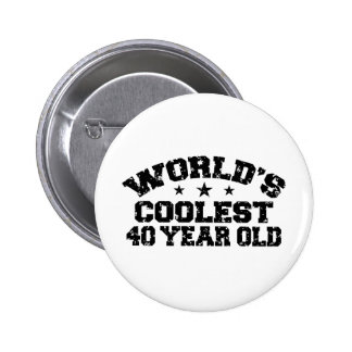 40th Birthday Pinback Button