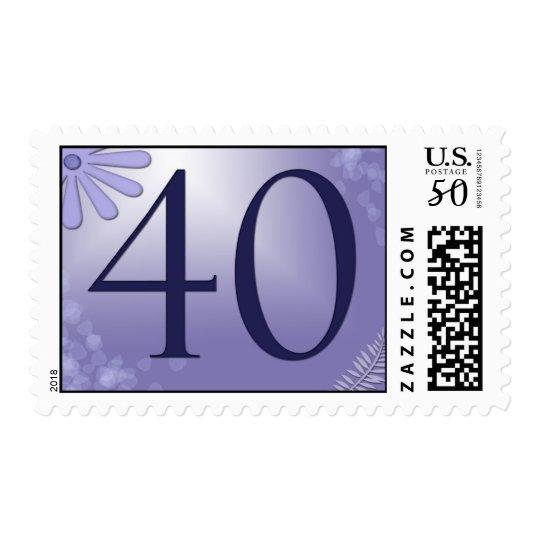 40th Birthday Postage