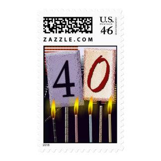 40th Birthday Postage Stamp