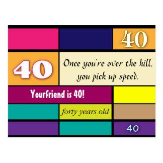 40th Birthday Postcard