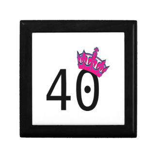 40TH Birthday Princess Keepsake Box