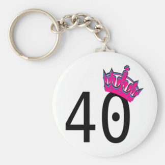 40TH Birthday Princess Keychain