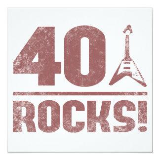 40th Birthday Rocks Card