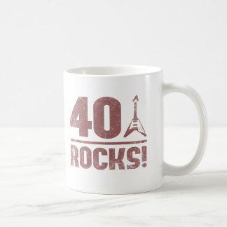 40th Birthday Rocks Coffee Mug