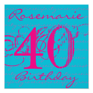40th Birthday - Script Collection Card