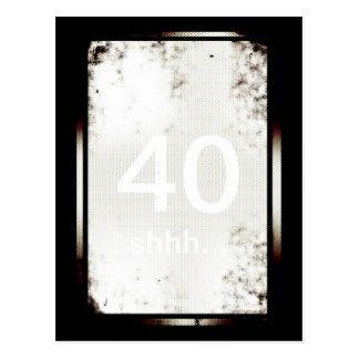 40th Birthday Shhh Minimalist Postcard